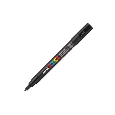 UNI POSCA PC-3M BLACK MARKER ART GRAFFITI 4902778915776 NOIR SKETCH DRAW ARTISTE TAG SHOP PRO COMASOUND KARTEL CSK ONLINE SHOP DECORATION