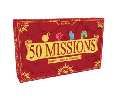 OYA 50 MISSIONS 3760207030381 JEU JOUET CARTE FAMILLE ENFANT DIVERTISSEMENT SOIREE COMASOUND KARTEL CSK ONLINE