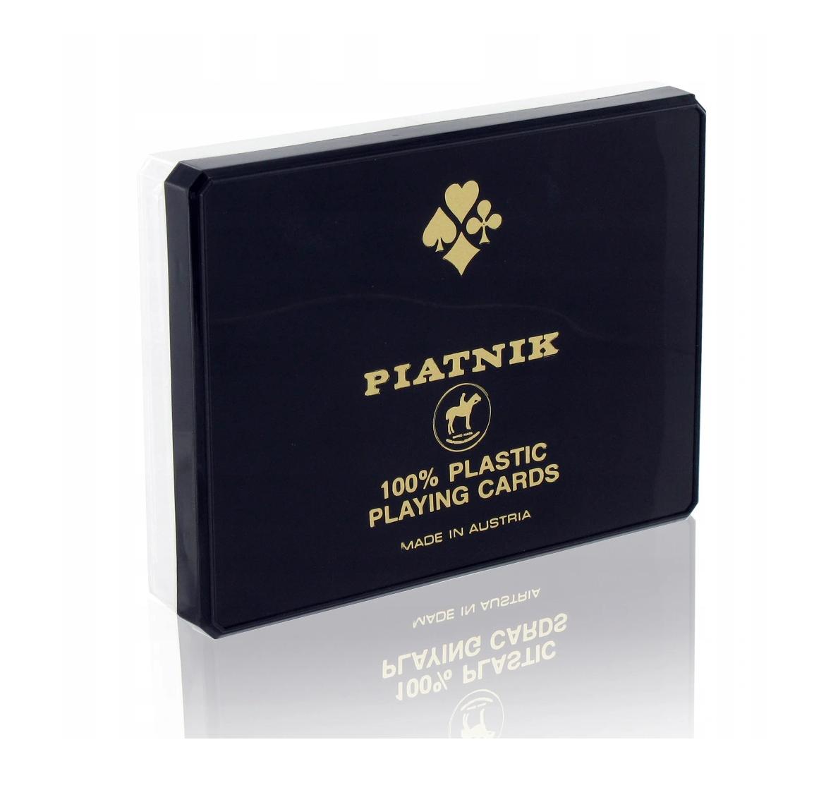 PIATNIK 100% PLASTIQUE 9001890236426 JEU JOUET CARTE 2 X 55 CARTES ADULTE BRIDGE POKER CASINO FAMILLE ENFANT DIVERTISSEMENT SOIREE COMASOUND KARTEL CSK ONLINE