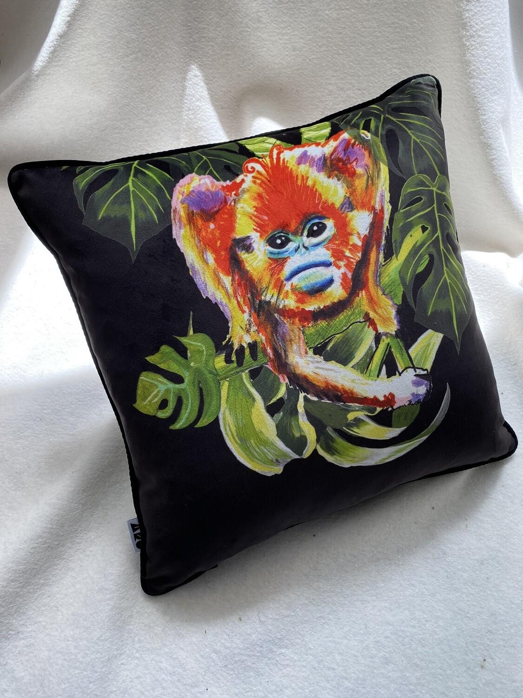 Black Magic Monkey Cushion