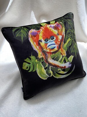 Black Magic Monkey Cushion
