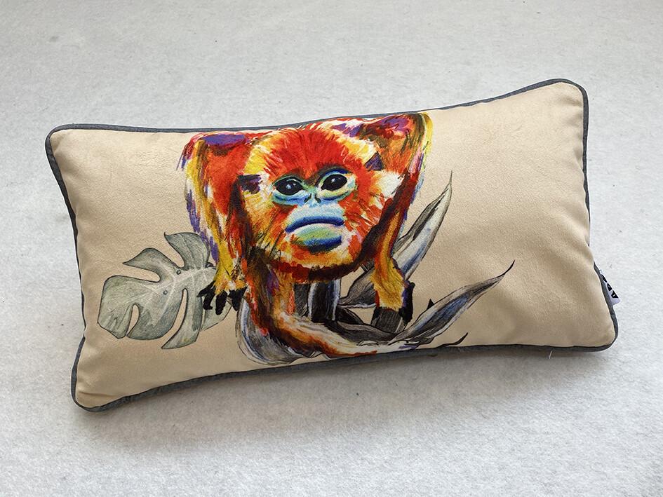 Cream Lozenge Snub-Nosed Magic Monkey Cushion