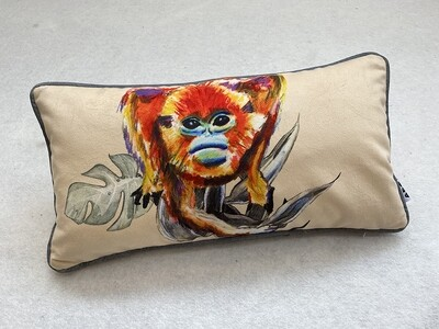 Cream Lozenge Snub-Nosed Magic Monkey Cushion