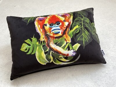 Black Velvet Snub-nosed Magic monkey Cushion