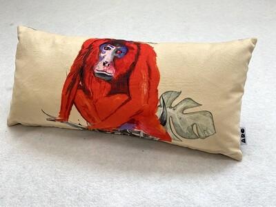 Red Howler Magic Monkey Lozenge Cushion