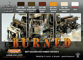 Creation Unlimited Acrylic Paint Set - Dust & Rust Weathering Set - 6 Colors