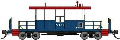 Bluford Shops Steel Transfer Caboose w/Long Roof - Ready to Run -- D&H Napierville Junction 39 (Bicentennial red white blue)
