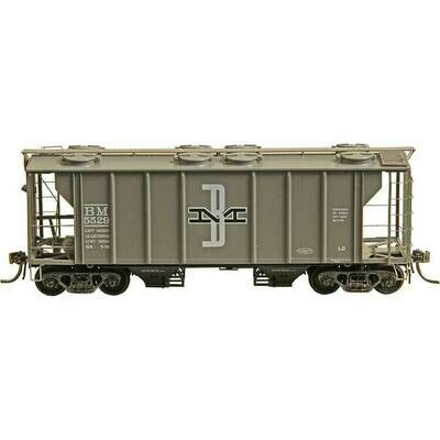 Kadee PS-2 2-Bay Covered Hopper Boston & Maine #5535