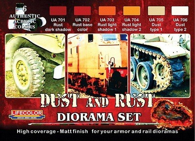 Creation Unlimited Acrylic Paint Set - Dust & Rust Diorama Set - 6 Colors