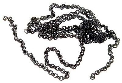A-Line Pre-Blackened Brass Chain - 12  30.5cm -- 27 Links Per Inch