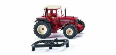 Wiking 1981-1985 IHC 1455 XL Farm Tractor - Assembled -- Red, Black
