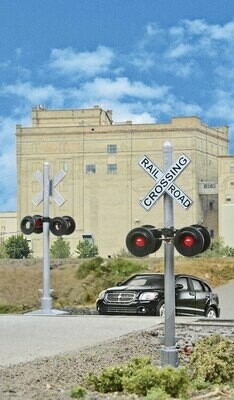 Walthers SceneMaster Crossing Flashers -- Set of 2 Working Signals (Use with Crossing Signal Controller)