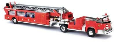 Busch 1968 American-LaFrance Fire Hook and Ladder Truck with Open Cab - Fire Department (red, black)