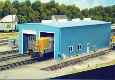 Pikestuff Modern 1 or 2 Stall Engine House -- Kit - 5-1/2 x 11  14 x 27.9cm