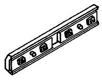 Details West Rail Bars -- 3-Bolt Fish Plate - Code 70 & 83 pkg(12)