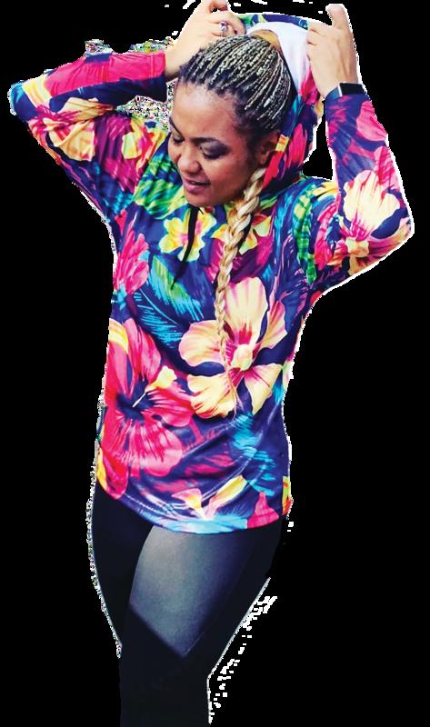 Flower Power Jersey Hoody