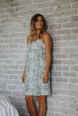 MINT FLORAL - RAYON