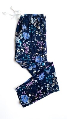 NAVY SMALL FLORAL - RAYON
