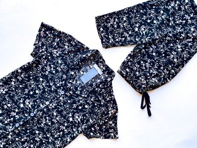 BLACK SMALL FLORAL - RAYON