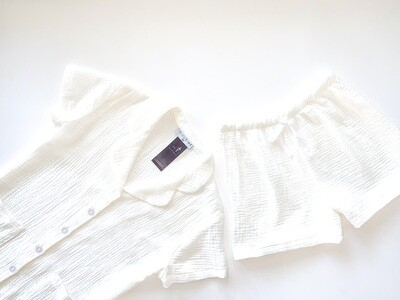 OFF WHITE - CRINKLE COTTON (L & XL ONLY)