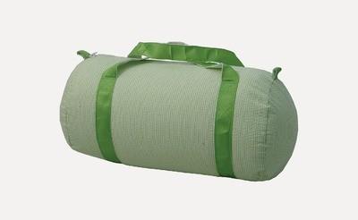Medium Lime Seersucker Duffle Bag