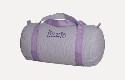 Medium Lilac Seersucker Duffle Bag