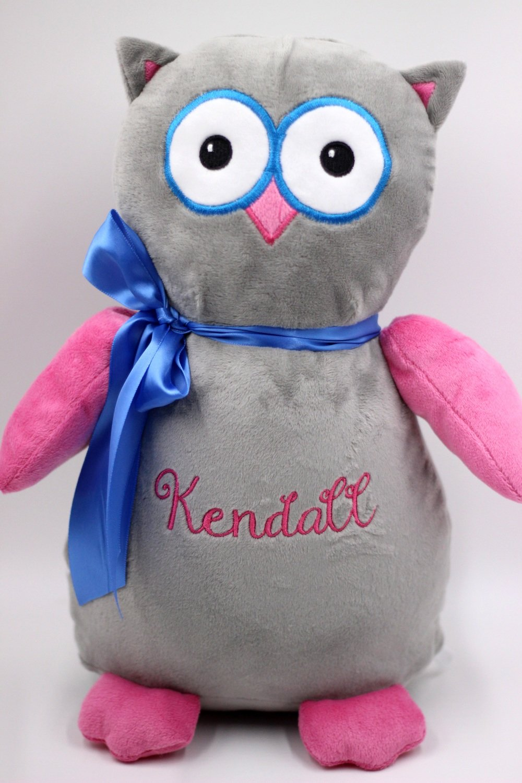 Owl - Pink & Grey