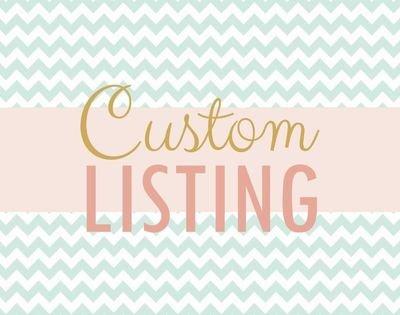 Custom Listing for Sarah Anderson