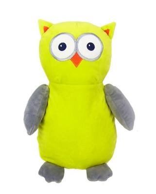 Owl - Grey & Chartreuse
