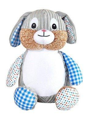 Harlequin Bunny (Blue)