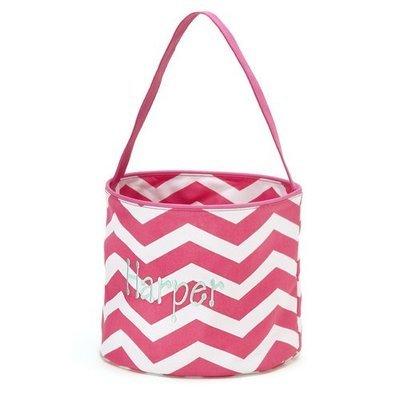 Pink Chevron Easter Bucket