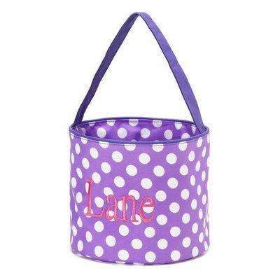 Purple Dot Easter Bucket