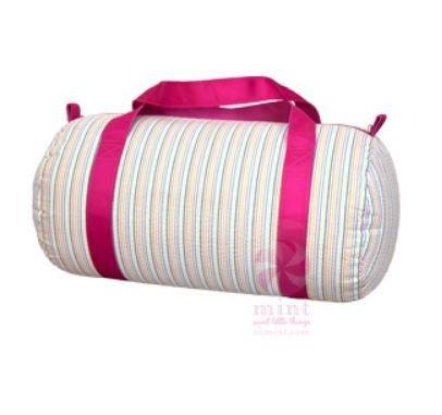 Medium Rainbow Seersucker Duffle Bag