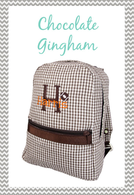 Small Chocolate Gingham Backpack