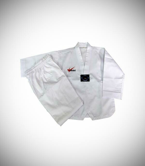 White V-Neck Uniform