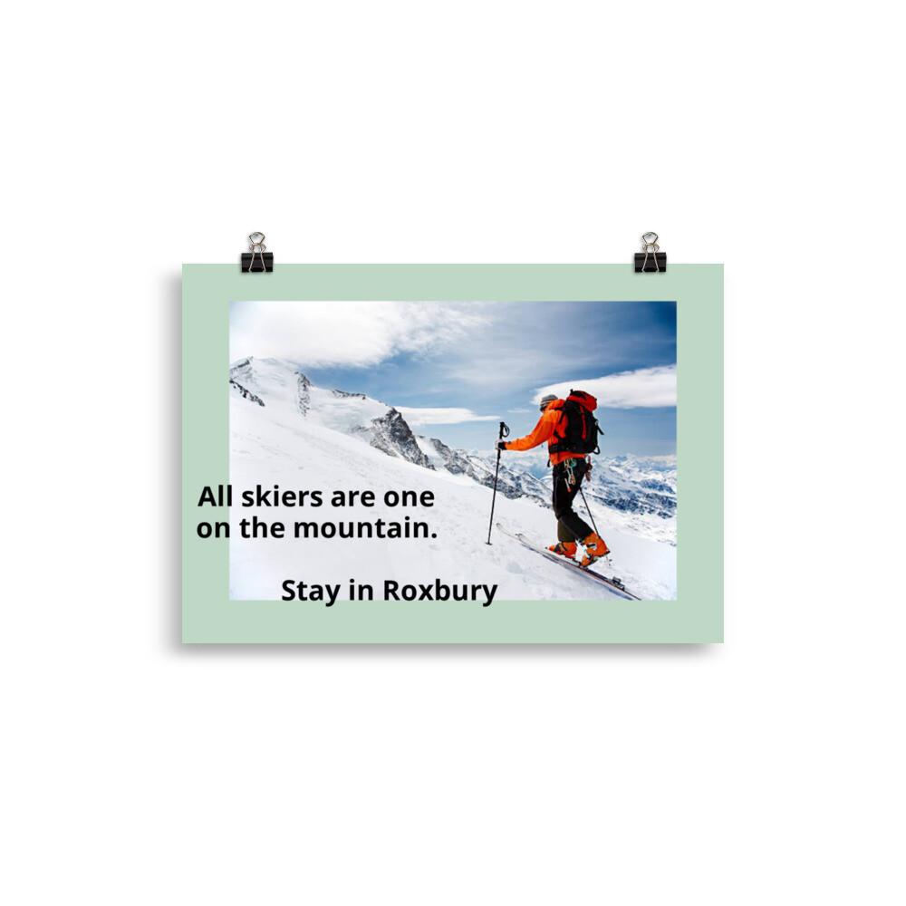 Roxbury to Margaretville Poster