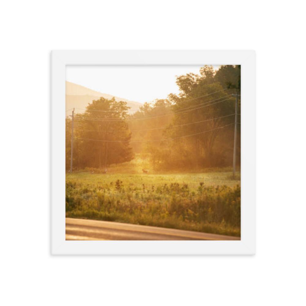 Sunrise in the Catskills framed poster