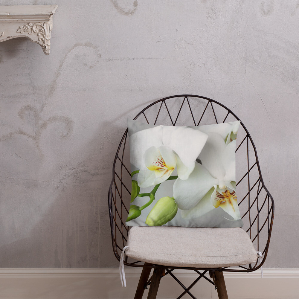 White Orchid Decorator Pillow