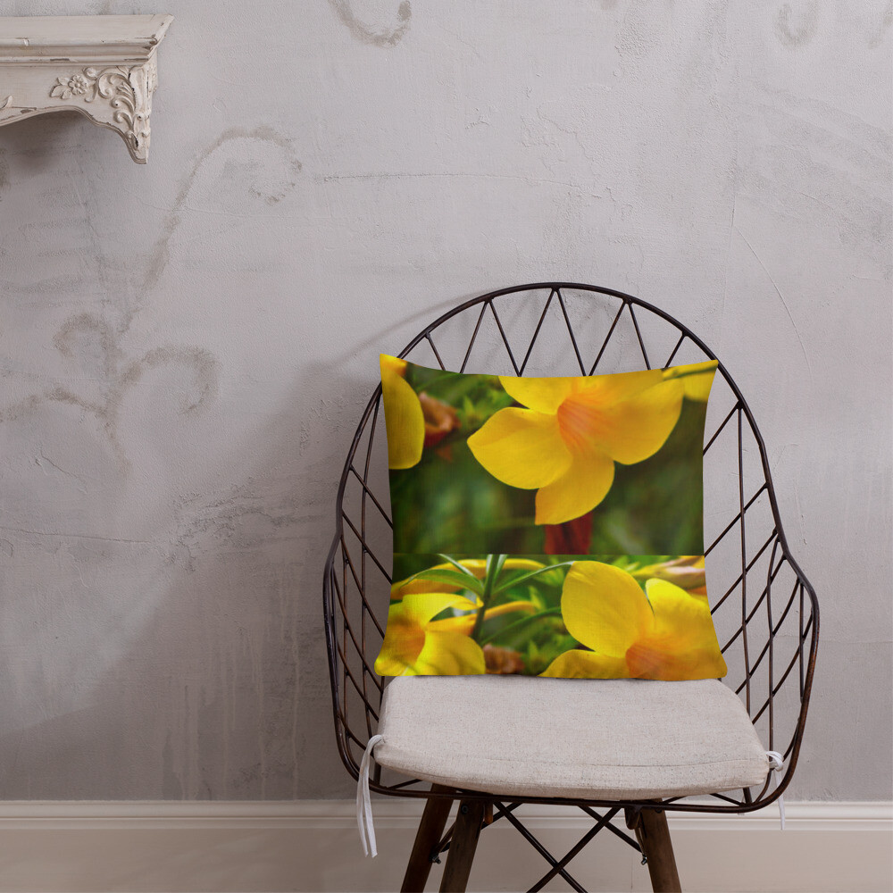 Yellow Orchid Decorator Pillow