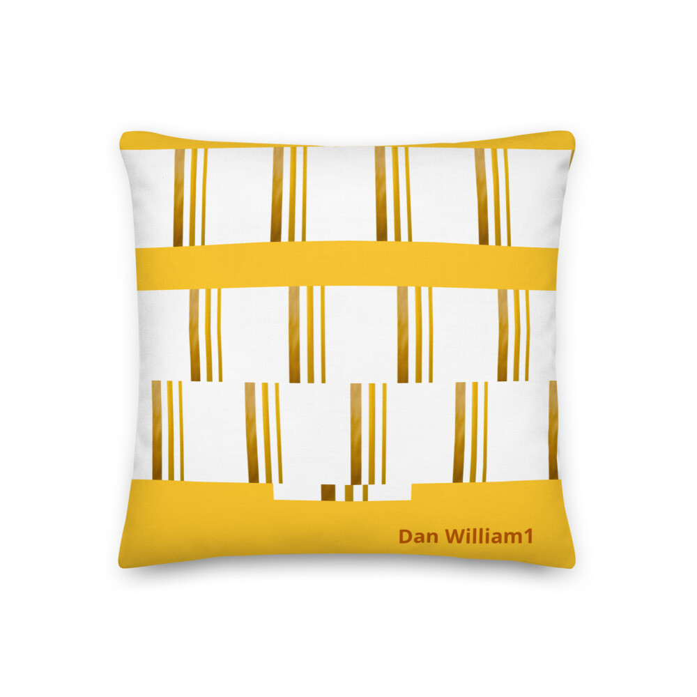 Gold and white pillow