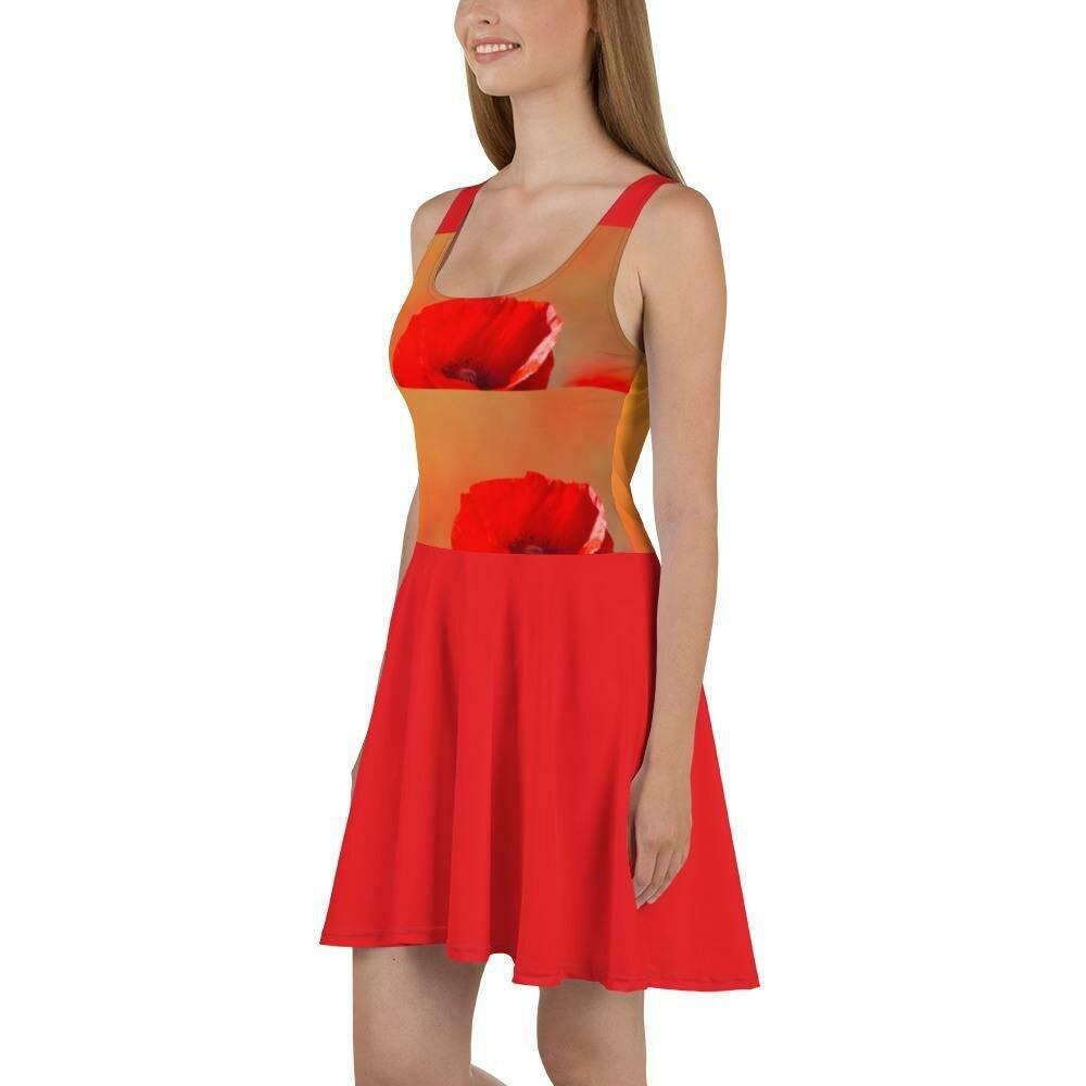 Poppy Bright Skater Dress