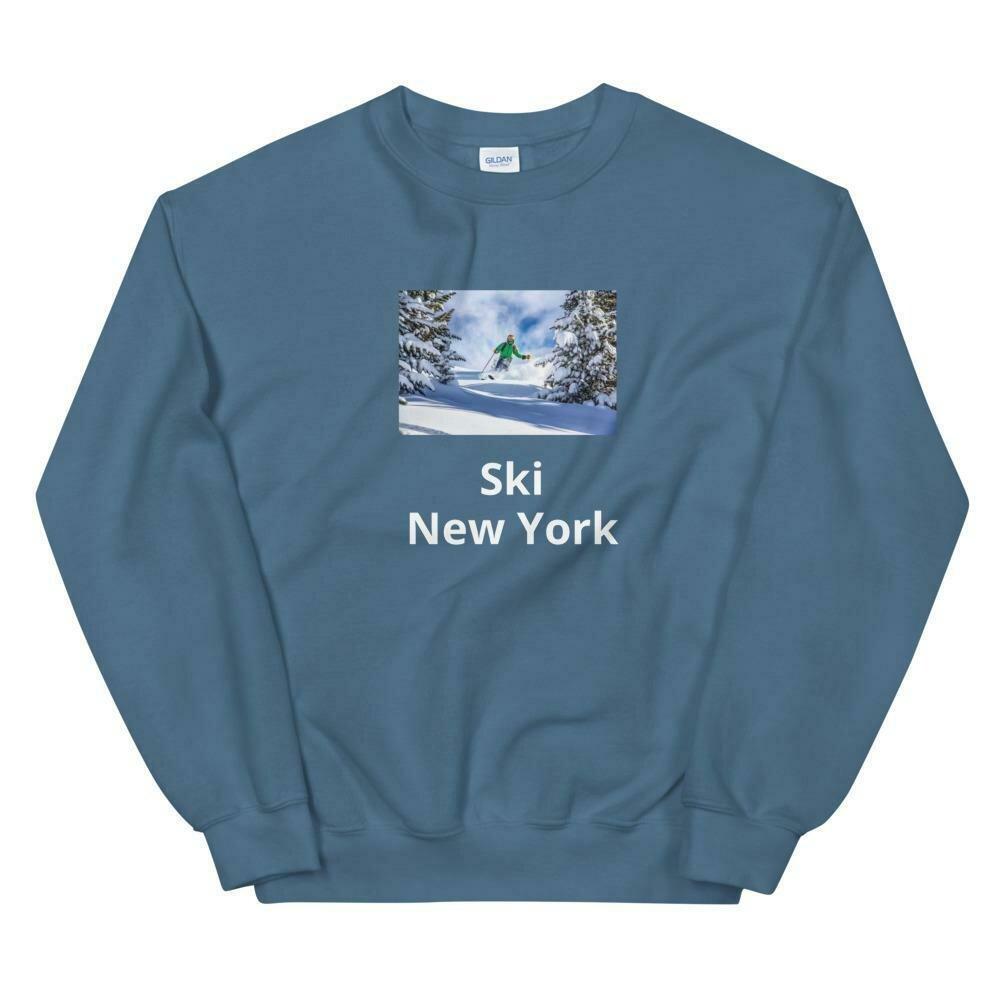 Ski New York Blue Sweatshirt