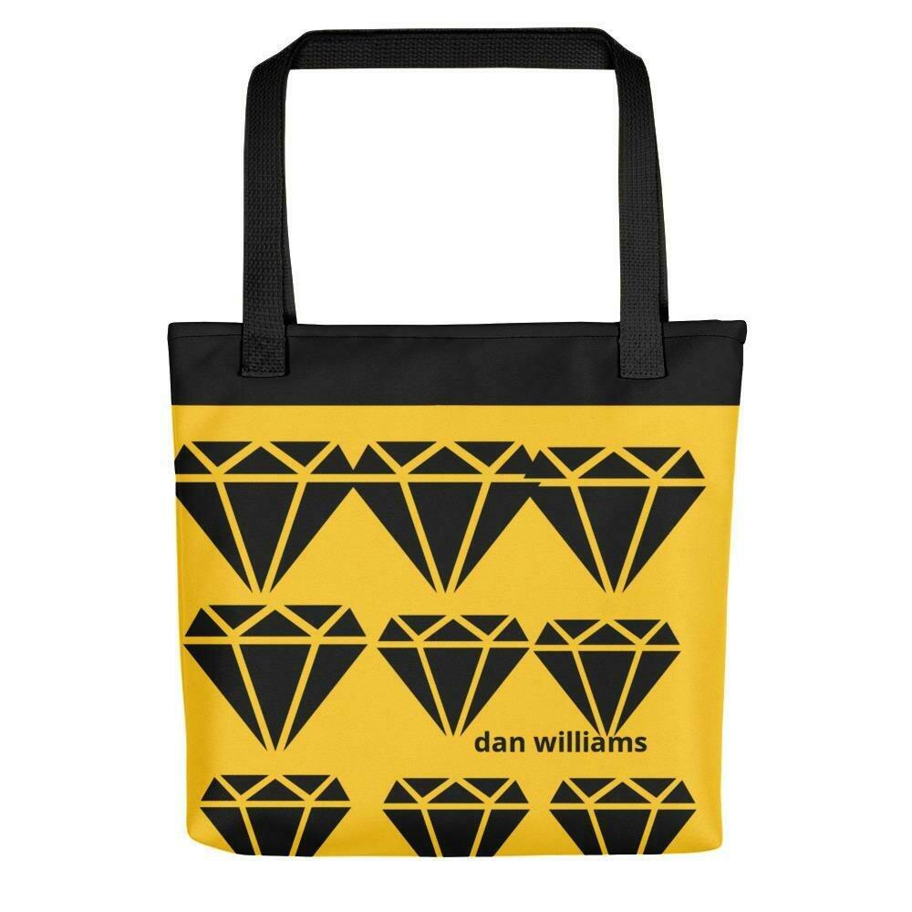 Black and Gold Diamond Bag
