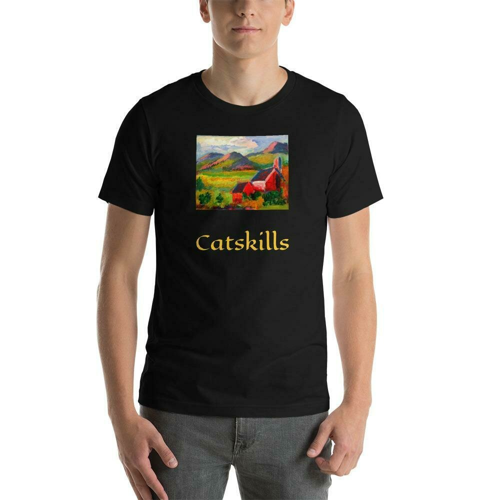 Black and Gold Short-Sleeve Unisex T-Shirt