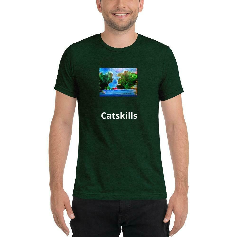 Catskill Mountain Lake-- Short Sleeve t-shirt