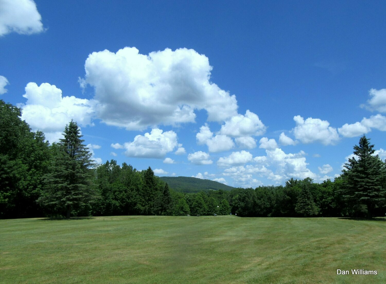 Catskills Mountain Sky Throw Pillow