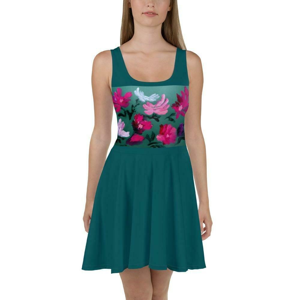 Emerald Palace Skater Dress
