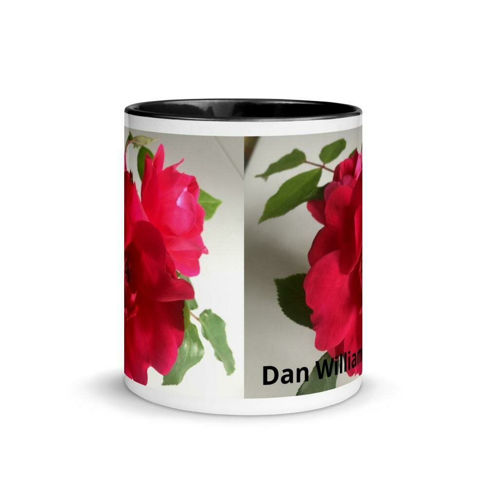 Lovers  Rose Mug with Color Inside