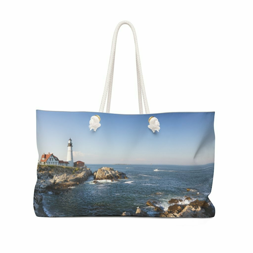 Maine Lighthouse Weekender Bag
