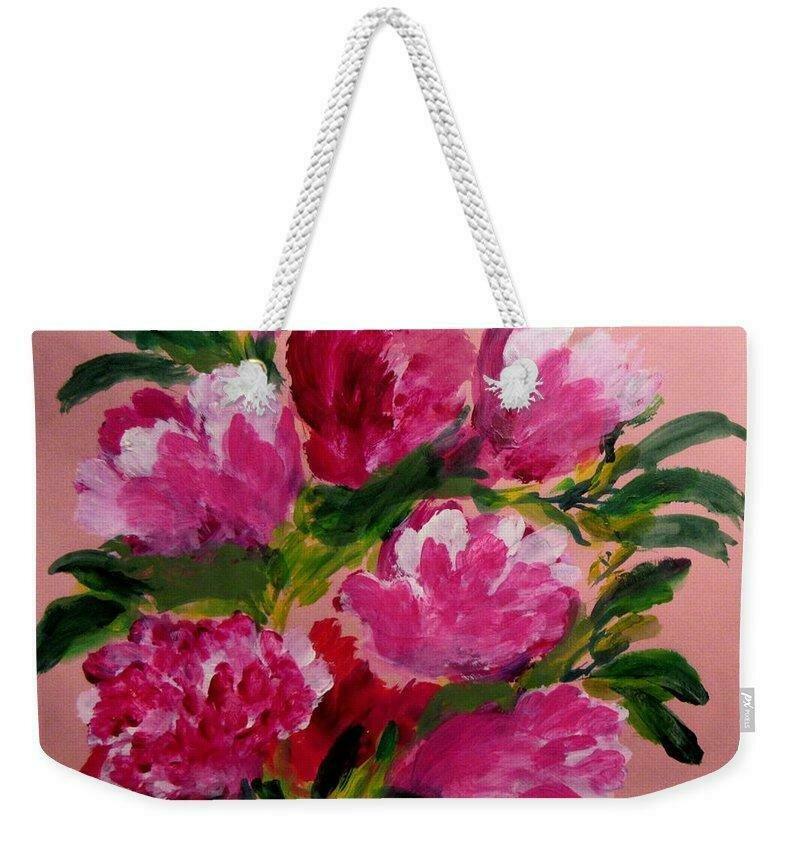 Millie s Peonies - Weekender Tote Bag